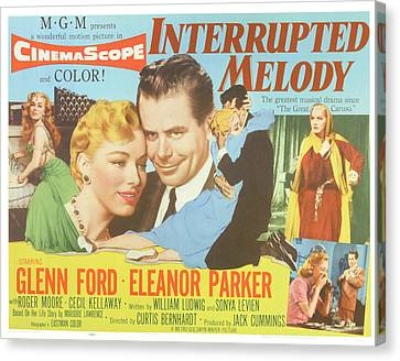 Interrupted Melody, Center From Left Canvas Print by Everett