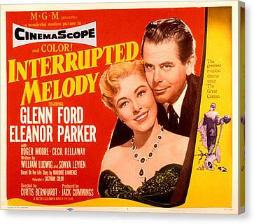 Interrupted Melody, Eleanor Parker Canvas Print by Everett