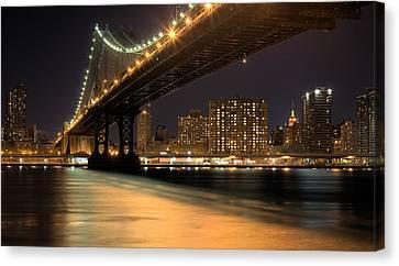 Into Manhattan  Canvas Print by JC Findley