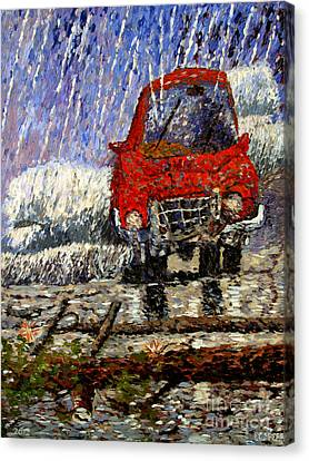 Into The Epochal Storm Canvas Print by Charlie Spear
