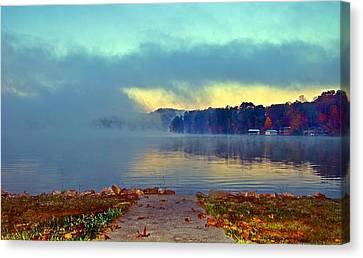 Into The Fog Canvas Print by Susan Leggett