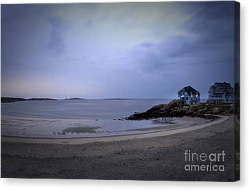 Into The Night In Cape Ann Canvas Print by Brenda Giasson