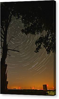 Into The Night Canvas Print by Jim Finch
