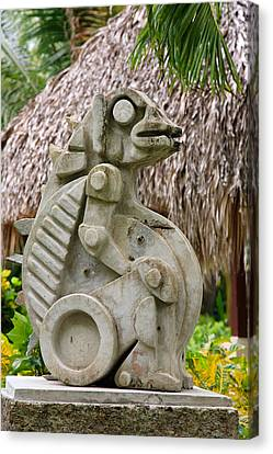 Canvas Print featuring the photograph Intriguing Taino Sculpture by Karen Lee Ensley