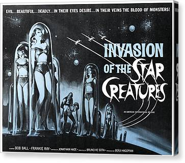 Invasion Of The Star Creatures Canvas Print by Everett