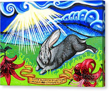 Iorek Byrnison Silvertongue Canvas Print by Genevieve Esson