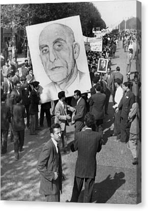 Iranians, Demonstrating In Favor Canvas Print by Everett