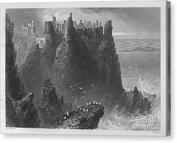 Ireland: Dunluce Castle Canvas Print by Granger