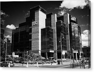 Irelands Ifsc International Financial Services Centre In Dublins Docklands Dublin City Centre Canvas Print by Joe Fox