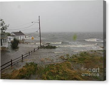 Irene And The Great South Bay Canvas Print by Scenesational Photos