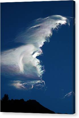Iridescent Cloud Wave Canvas Print by Amelia Racca
