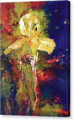 Iris Cosmic Canvas Print by Petro Beva
