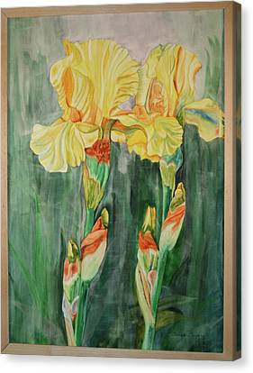 Canvas Print featuring the painting Irises II by Teresa Beyer
