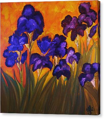 Irises In Motion Canvas Print