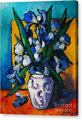 Mona Edulescu Canvas Print - Irises by Mona Edulesco