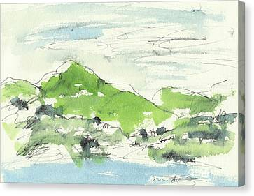 Irish Bay Canvas Print by Marilyn MacGregor