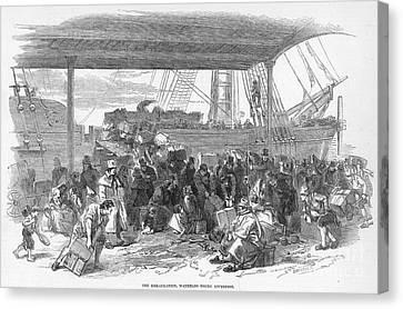 Irish Emigration Canvas Print by Granger
