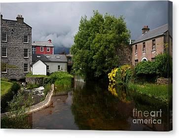 Irish Houses Canvas Print by Louise Fahy