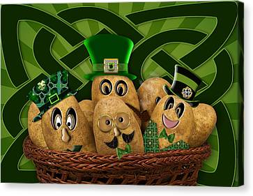 Irish Potatoes Canvas Print by Trudy Wilkerson