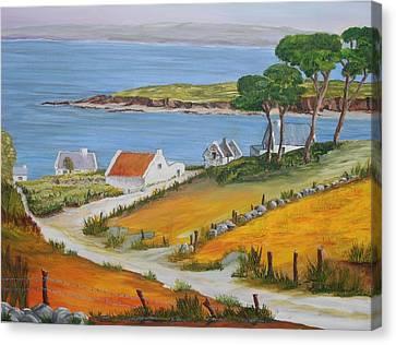 Irish Seaside Village Canvas Print by Siobhan Lawson