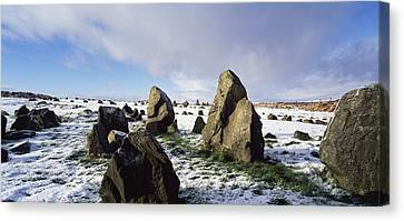 Irish Snow Scenes Co Tyrone, Beaghmore Canvas Print by The Irish Image Collection