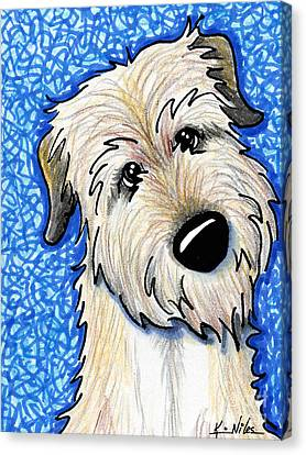 Irish Wolfhound Canvas Print by Kim Niles