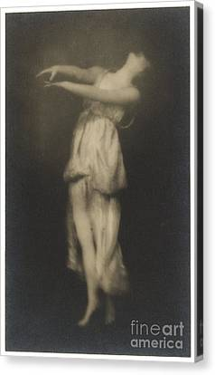 Irma Duncan Canvas Print by Arnold Genthe