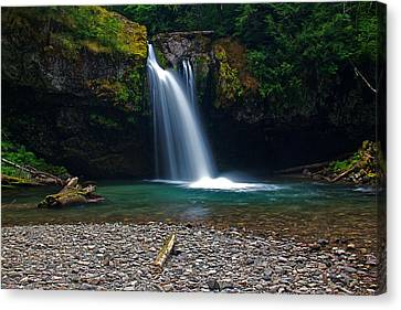 Iron Creek Falls 2 Canvas Print by Marcus Angeline