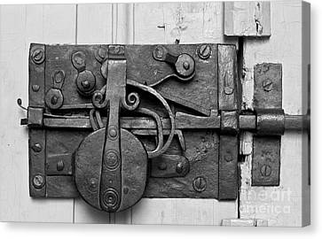 Iron Door Lock Canvas Print