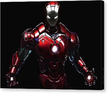 Iron Man Ipad Painting Canvas Print