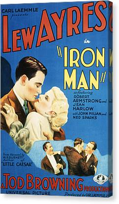 Iron Man, Lew Ayres, Jean Harlow, 1931 Canvas Print by Everett