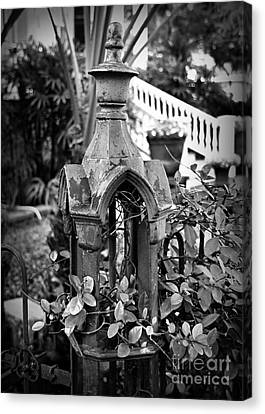 Iron Post Detail Canvas Print by Perry Webster