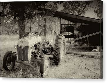 Iron Workhorse In Sepia Canvas Print by Tony Grider
