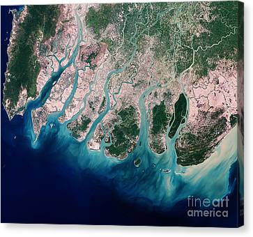 Irrawaddy River Delta Canvas Print
