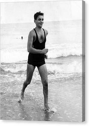 Irving Berlin At The Beach In Palm Canvas Print by Everett
