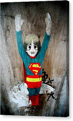 Is It A Bird Is It A Plane No It's A Painting On A Wall Canvas Print by Jez C Self