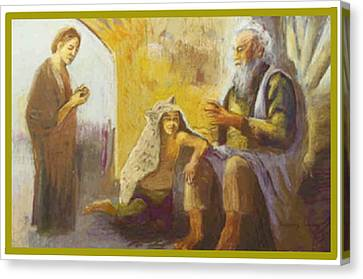 Isaac Blessing Of Jacob Canvas Print
