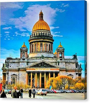 Isaak's Cathedral The Heaviest Canvas Print by Tommy Tjahjono