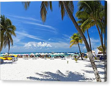 Isla Mujeres Beach Scenic Canvas Print by George Oze