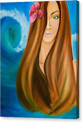 Island Beauty Canvas Print by Chris  Leon