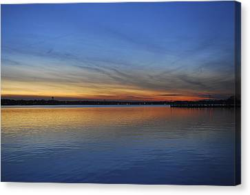 Island Heights At Dusk Canvas Print by Terry DeLuco