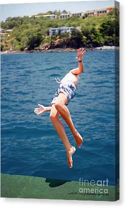 Canvas Print featuring the photograph Island Hopping Boy by Vicki Ferrari