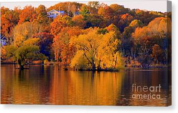 Island  In Fall Canvas Print