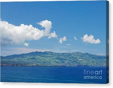 Island On The Horizon Canvas Print by Gaspar Avila