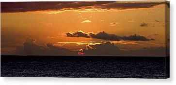 Island Sunset Canvas Print by Michael Flood