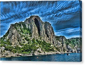 Isle Of Capri Limestone Cliffs Canvas Print by Jon Berghoff