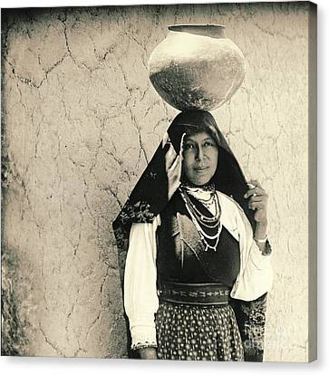 Isleta Pueblo Woman 1910 Canvas Print by Padre Art