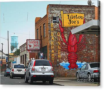 Isleton Joes Restaurant And Saloon In Isleton California Canvas Print by Wingsdomain Art and Photography