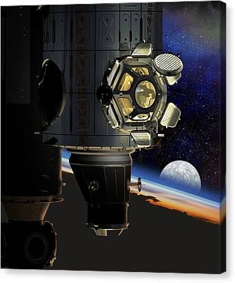 Iss Viewing Portal, Artwork Canvas Print