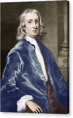 Issac Newton, English Physicist Canvas Print by Sheila Terry